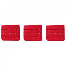 3 rallonges rouge extension soutien gorge 3 crochets, 5,5 x 5 cm astuce lingerie