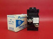 NEW 15 Amp PUSHMATIC ITE Gould Siemens 1 Pole Single Pole BREAKER P115 15A NIB