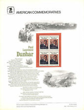 #49 10c Paul Laurence Dunbar #1554  USPS Commemorative Stamp Panel