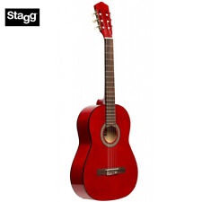 NEW Stagg SCL50 1/2-RED Size Student Nylon Classical Acoustic Guitar - Red