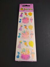 Vintage Sandylion Pearly Opal Sticker Strip Mother of Pearl Birthday Cake