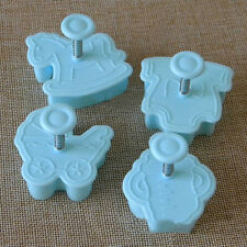 4Pcs Baby Kids Cake Sugar Paste Fondant Sugarcraft Plunger Loaf Cutter DIY Toys