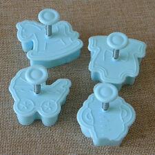 4Pcs Baby Kids Cake Sugar Paste Fondant Sugarcraft Plunger Loaf Cutter DIY Toys