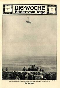 Sturzflug-Vorführung des französischen Fliegers Pegoud in Johannisthal XXL 1913