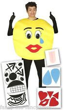 Adult Emoji Smiley Stag Do Hen Do Novelty Funny Fancy Dress Costume Outfit Large