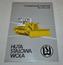 Huta Stalowa Wola TD-15C LGP Tractor Dozer Brochure Prospekt