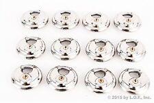12 - Disc Padlock Stainless Trailer Brass Cylinder Storage Locks Keyed Alike New