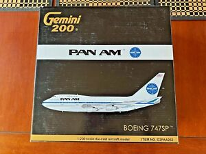 """GEMINI 200 G2PAA262  PAN AM BOEING 747SP""""CLIPPER CONSTITUTION""""  N532PA"""