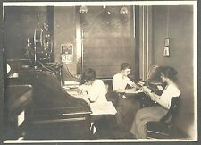 Cabinet Photo of 3 Female Workers in a Cedar Rapids Insurance Office 1920-30s