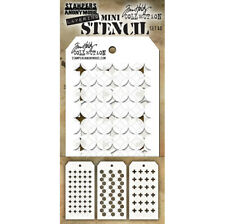 Tim Holtz Mini Layering Stencil ~ SET 40 ~ THMST040 ~ Stampers Anonymous
