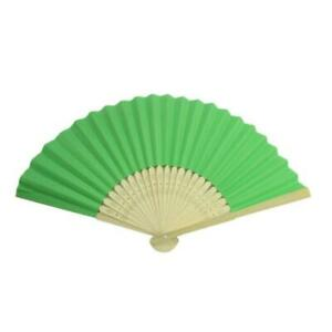 """PAPER HAND FAN 8.25"""" Color Choice GOOD QUALITY Bamboo Folding Pocket Purse NEW"""