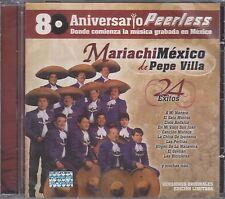 Mariachi Mexico De Pepe Villa 24 Exitos 80 Aniversario CD New Nuevo sealed