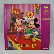 WALT DISNEY THE PRINCE AND THE PAUPER LASERDISC - WILLIE WHALE, PETER & THE WOLF