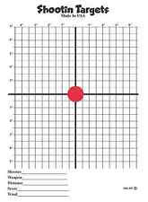 75 Red Dot Scope Sight In paper shooting targets (11X15) Rifle hand gun