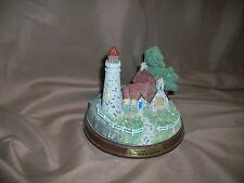 *Imperfect* Thomas Kinkade Light Of Peace Lighthouse Illuminated