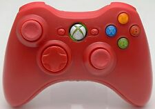 NEW Microsoft XBox 360 Red Wireless Video Game Controller cordless handheld rare