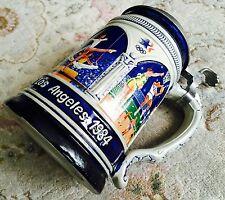 Rara Edición Limitada 1984 los Angeles Olimpiada Stein Cerveza De Cerámica Alemana thewalt