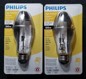 Philips High Pressure Sodium 100W Medium Base Clear Lightbulbs BD17 C100S54/M