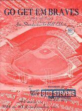 Milwaukee (Atlanta) BRAVES 1958 BASEBALL Sheet Music GO GET EM BRAVES !