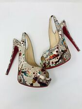 8589c7f9a2a Christian Louboutin Peep Toes Textured Heels for sale | eBay