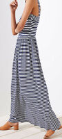 Ann Taylor LOFT Striped Strappy Maxi Dress Various Sizes NWT Forever Navy Color