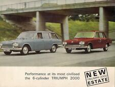 Triumph 2000 Mk1 Saloon & Estate 1965-66 UK Market Sales Brochure