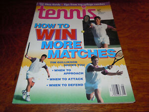 "VINTAGE MAY 1993 "" TENNIS "" MAGAZINE - TIM GULLIKSON COVER - MINT"