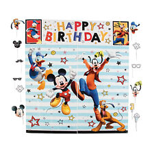 Disney® Mickey Mouse & Friends Wall Mural Photo Stick Props PARTY DECORATION