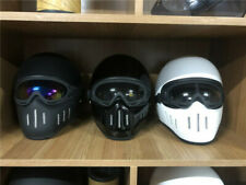 TT&CO TT02 Japan Full Face Set Helmet with glasses Rider Motorcycle Helmet Prote