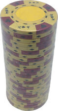 Poker Chips (25) Yellow Ace King 14 g Clay Composite FREE SHIPPING *