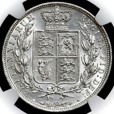 More details for victoria, 1837-1901. halfcrown, 1886. type a5. ngc encapsulated, au55.