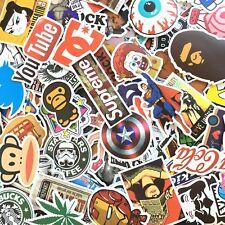 100 PCS Laptop Graffiti Car Luggage Vinyl Decal Skateboard Snowboard Sticker Mix
