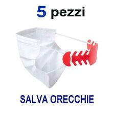 5 FASCETTE SALVA ORECCHIE PLASTICA GANCIO DIETRO TESTA PER MASCHERINE FLESSIBILI