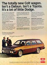 1978 Dodge Colt Woodgrain Wagon Original Advertisement Print Art Car Ad J994