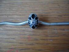 KAY JEWELERS CHARMED MEMORIES BLACK CATHEDRAL CHARM STERLING SILVER ITALY NEW