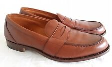 Donna TRICKER'S IN PELLE MARRONE Pebble GRANO Penny Mocassino UK 9.5 D