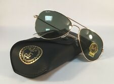 Ray-Ban Sunglasses Authentic Aviator Gold Metal Frame Green G15 Lens 3025 L0205