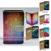 For LG Series - Mosaic Texture Theme Print Wallet Mobile Phone Case Cover