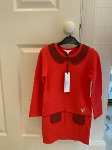 Little Marc Jacobs Long Sleeve Red With Detail Dress. New withtags Size 5 years.
