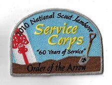 OA 2010 National Scout Jamboree OA Service Corps 60 Yrs. SMY Bdr. [GA-133]