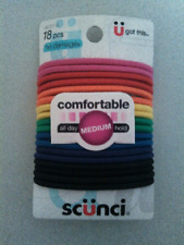 Scunci 18 pc. hair ties, no damage medium all day hold, multi colors