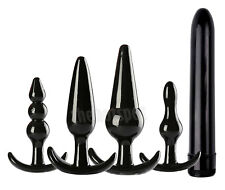 NEW 7 Piece Butt Plug* Set Soft Flexible Vibrator Anal Bead Chain Sex Toy* Bead*