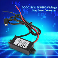 DC-DC 12V vers 5V 3A  USB Convertisseur Transformateur de Tension Voiture