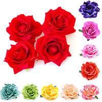 Femme Pince Cheveux Fleur Rose Tissu Barrette Broche Epingle Clips Bijoux Cadeau