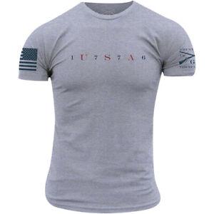 Grunt Style USA 76 T-Shirt - Heather Gray