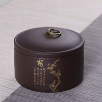 Small tea canister Chinese yixing zisha tea holder Wintersweet Orchid Bamboo Mum