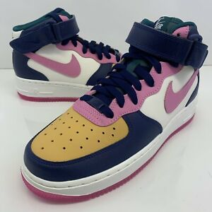 Nike Air Force 1 Mid By You White/Pink/Blue/Women's Shoes Sz 8 (AQ3779 994)