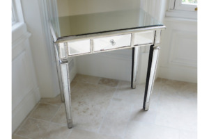 Antique Mirrored Glass Dressing Table Hall Console Table Side Lamp Table