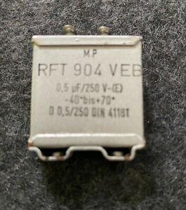 MP KONDENSATOR RFT 904 VEB 250 V 2x0,5 µF -40 bis +70 Grad Werk Gera