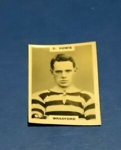 BRADFORD FOOTBALL CLUB 1920s PINNACE B + W  PHOTO CARD D HOWIE # 66 BFC DH YORKS